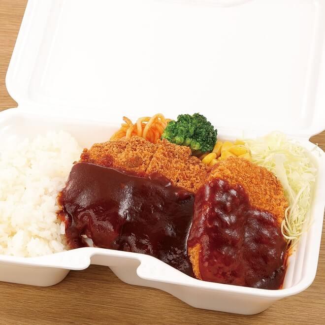 ポークカツ&牛肉コロッケ弁当