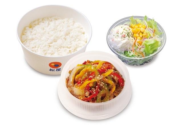 青椒肉絲定食ポテサラセット