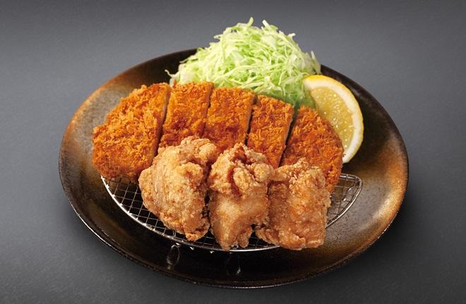 ロースかつ&本格唐揚げ定食