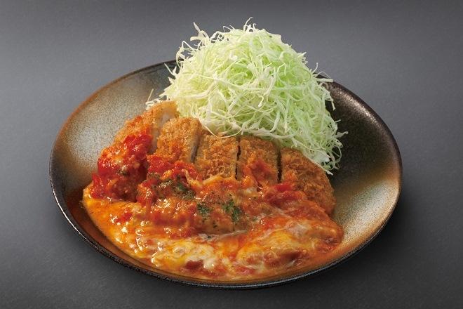 チーズトマトロースかつ定食