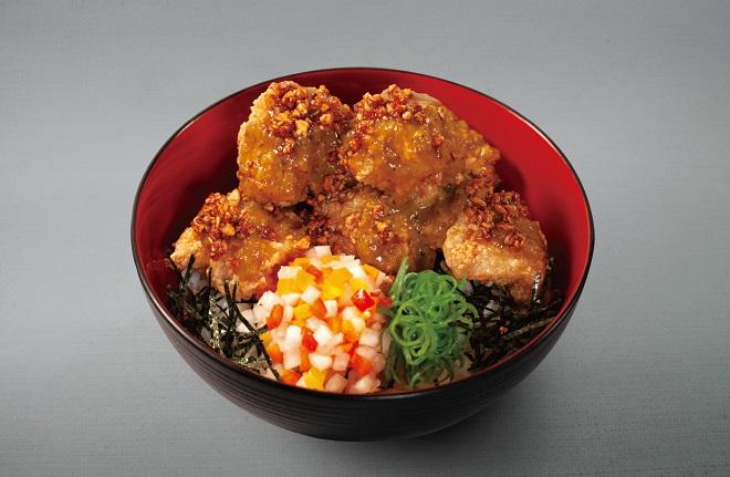 山盛り唐揚げ丼(魅惑の濃厚カレー)