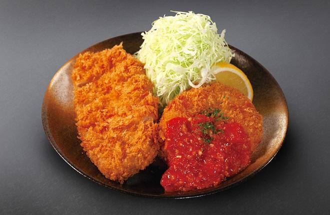 ロースかつ&チキンキエフ定食