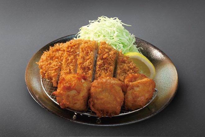 ロースかつ&唐揚げ定食