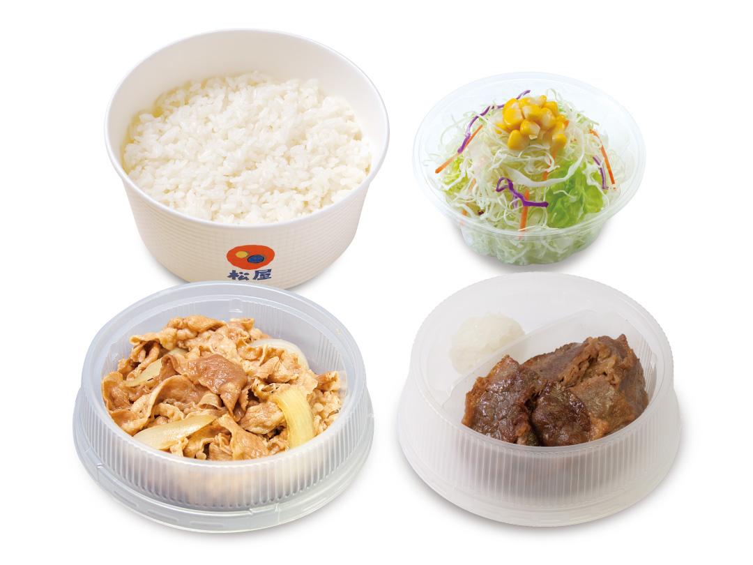 牛皿+カルビ焼肉生野菜セット