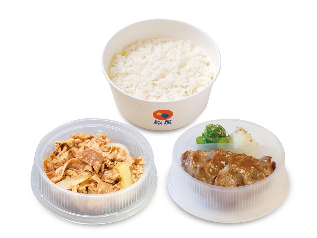 プレミアム牛皿+豚焼肉セット