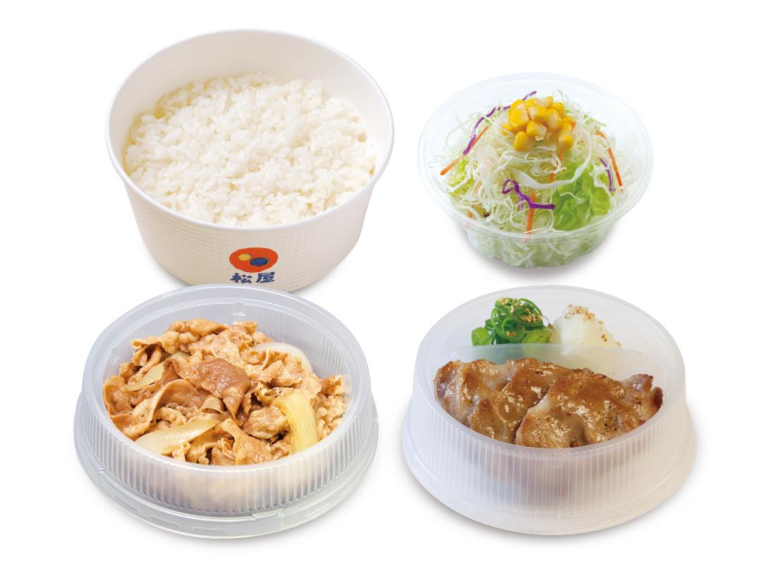 プレミアム牛皿+豚焼肉生野菜セット