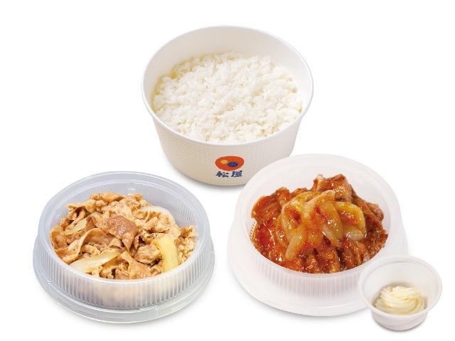 プレミアム牛皿+厚切り豚生姜焼きセット