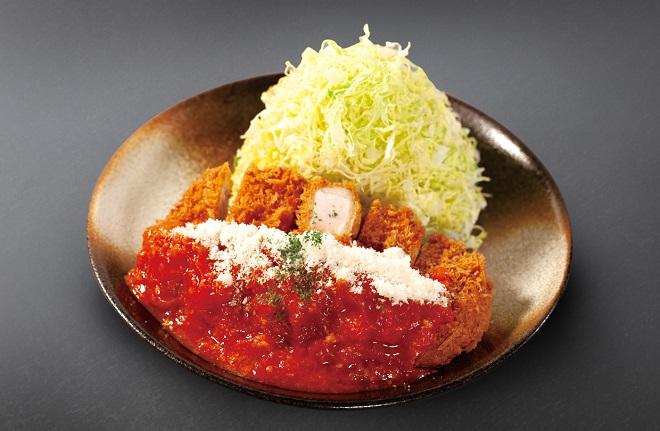 チーズトマト厚切りロースかつ定食