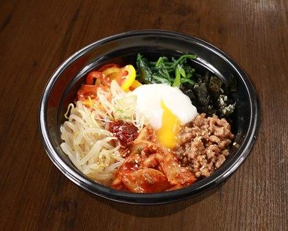 半熟玉子の特製ビビンバ Specially Made Bibimbap with Soft-Boiled Egg