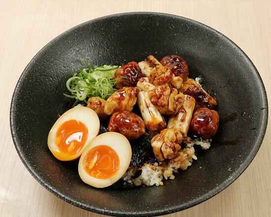 やきとりつくね味玉丼 Yakitori & Chicken Meat Ball Rice Bowl