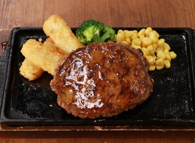 テリヤキハンバーグステーキ Hamburg steak with teriyaki sauce