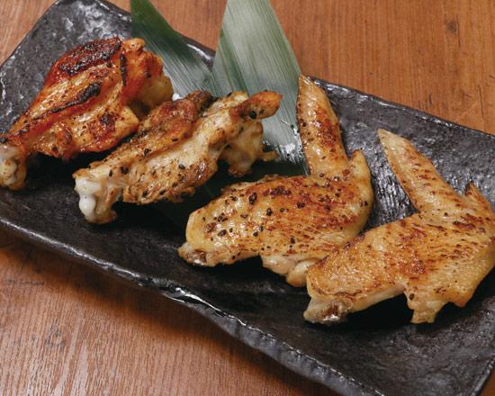 鶏手羽焼 四種盛り