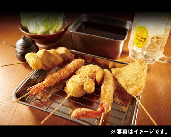 (串カツ)串かつ5種盛り