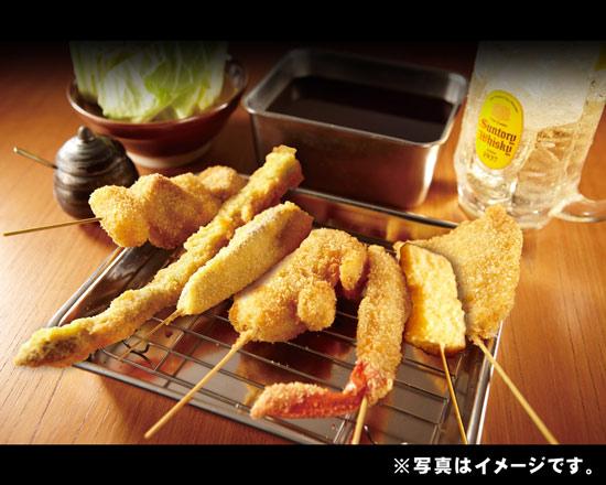(串カツ)串かつ7種盛り