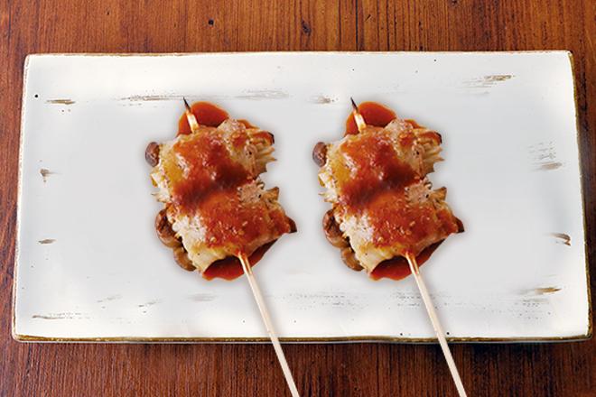 しめじとえのきの肉巻き串 おろしぽん酢 1本