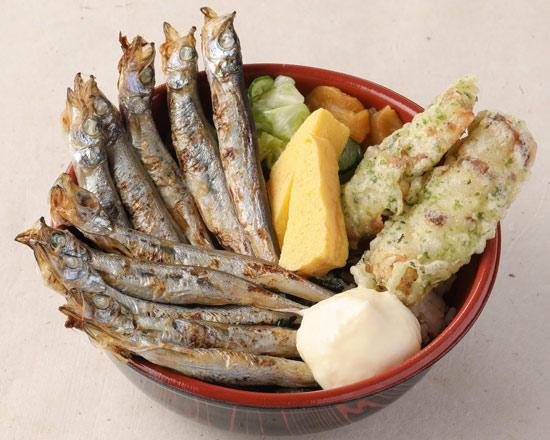 大漁ししゃも弁当 (ししゃも10尾+ちくわ磯辺揚)