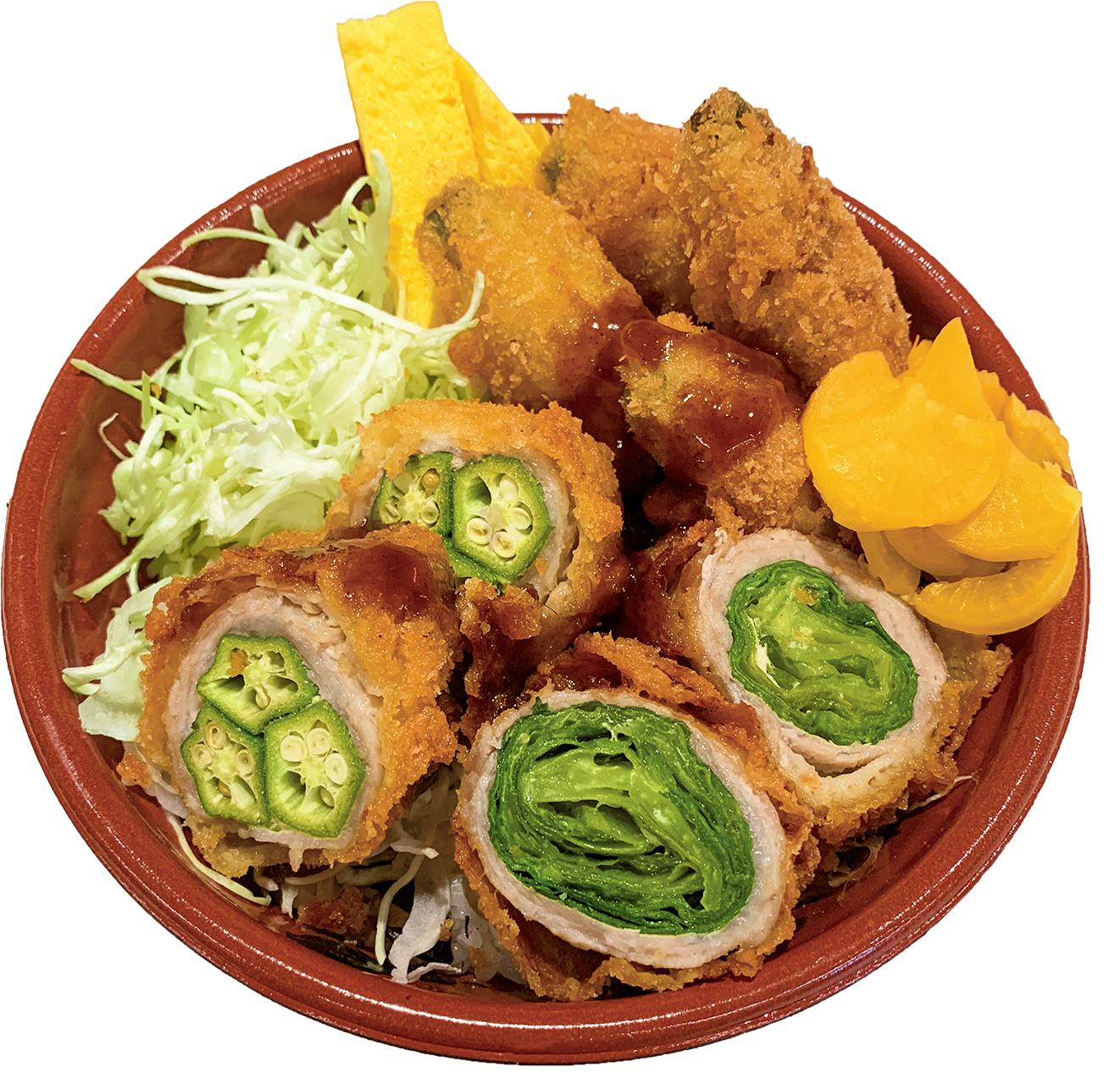 豚野菜巻きソースカツ弁当