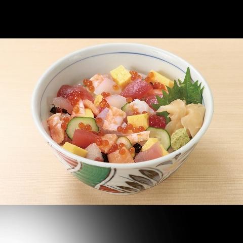 海鮮七種のバラちらし丼