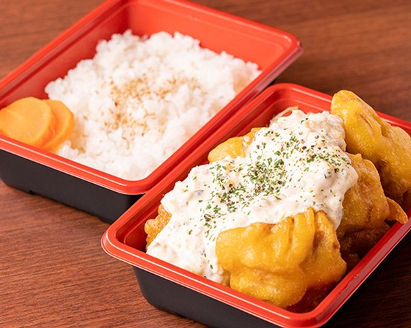 若鶏のチキン南蛮弁当 Chicken Nanban Meal Box (Fried Chicken with Vinegar and Tartar Sauce)