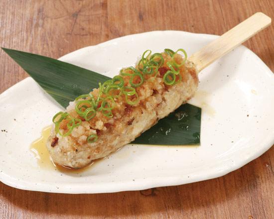 名物!!こだわりつくね おろしポン酢(1本) Meatball Skewer with Grated Ponzu Sauce (One Skewer)