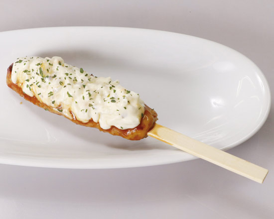 つくね串 タルタル(1本) Meatball Skewer with Tartar Sauce (One Skewer)