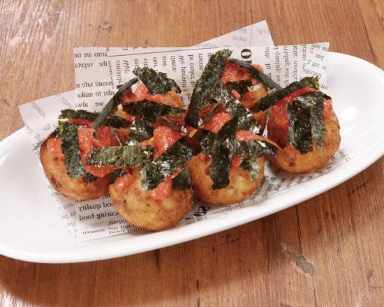 たこ焼(海苔明太) Takoyaki - Pollack Roe Sauce & Green Laver