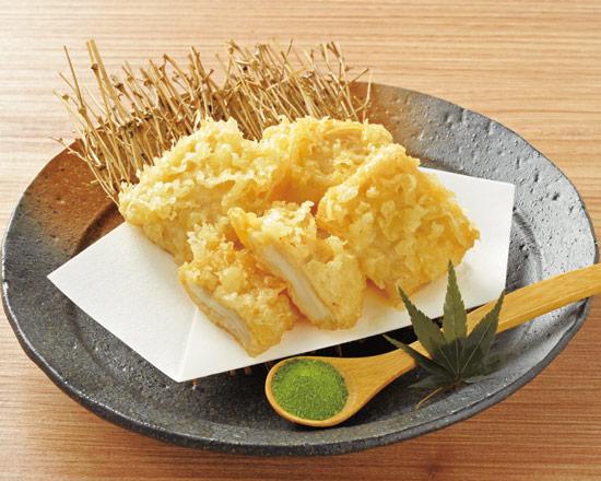 比叡生湯葉とモッツァレラチーズの天ぷら