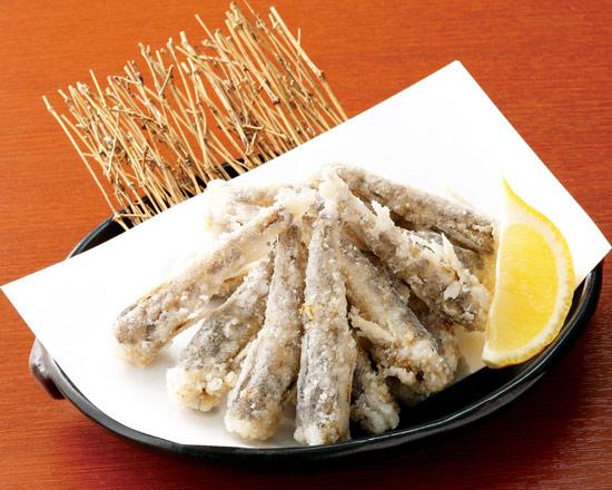 九州産 メヒカリの唐揚げ Fried Bigeyed Greeneye from Kyushu