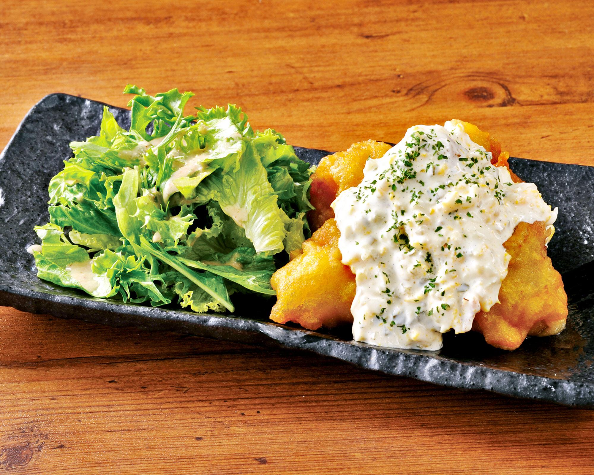 若鶏のチキン南蛮 Fried Chicken with Vinegar and Tartar Sauce