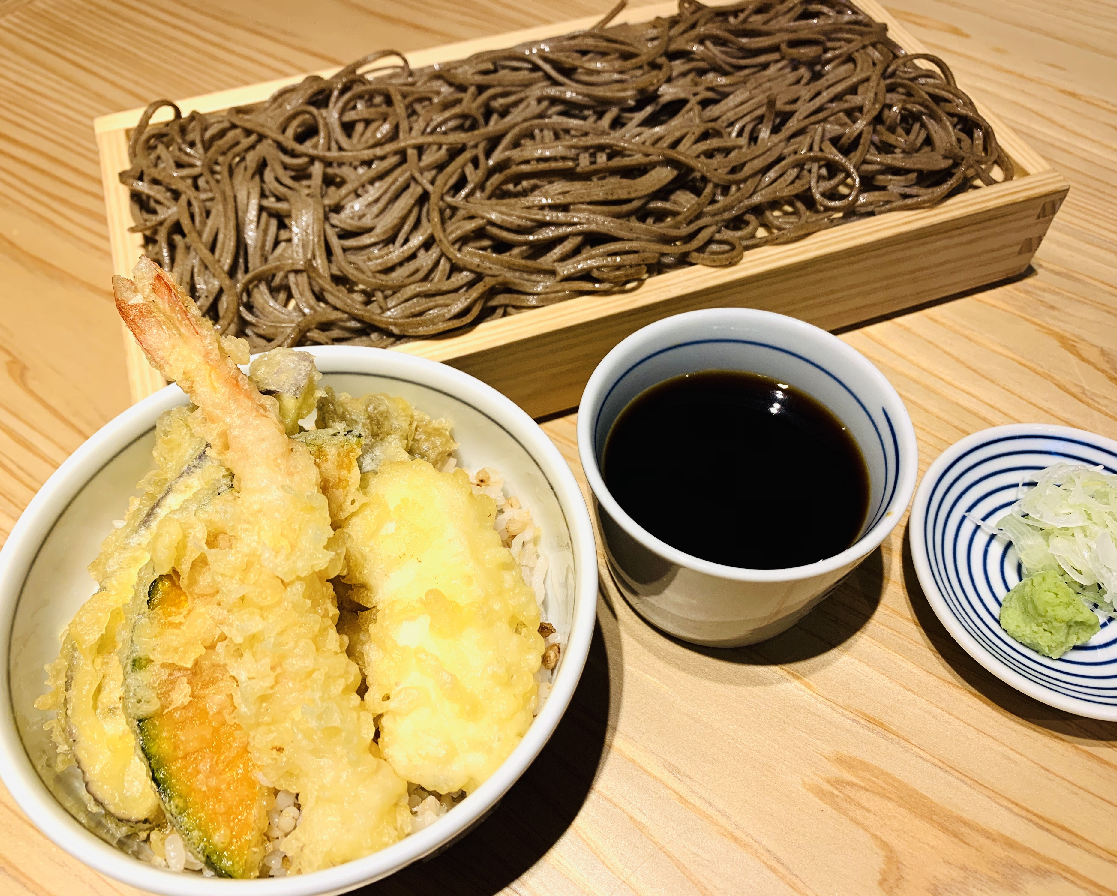 天丼とお蕎麦のセット