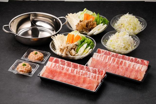 【2色鍋付き】和豚もちぶたしゃぶしゃぶセット(おだし2種付き)(4人前)