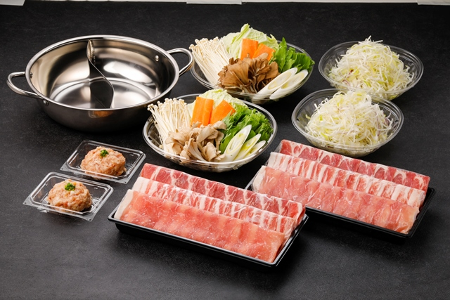 【2色鍋付き】和豚もちぶたしゃぶしゃぶセット(おだし2種付き)(2人前)