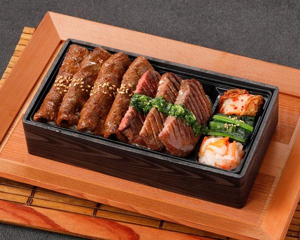 【平日限定】厚切り牛タン&国産牛焼きしゃぶ重