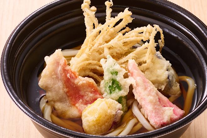室戸産金目鯛と四国野菜の天ぷらうどん