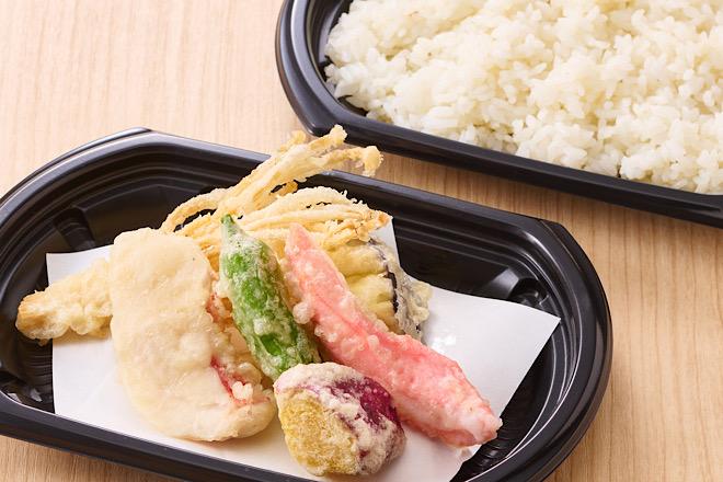 室戸産金目鯛と四国野菜の天ぷらセット