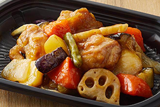 鶏と野菜の黒酢あん【おかずのみ】