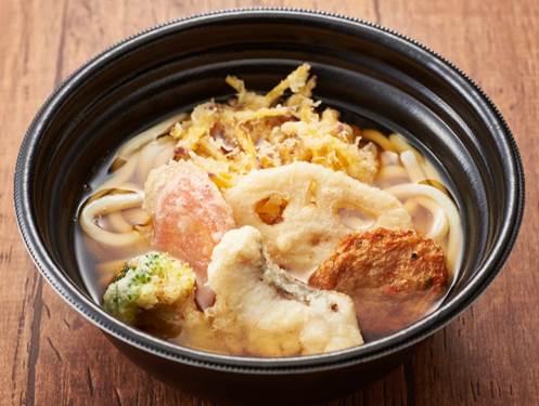 【期間限定九州フェア!】長崎県産真鯛と九州野菜の天ぷらうどん