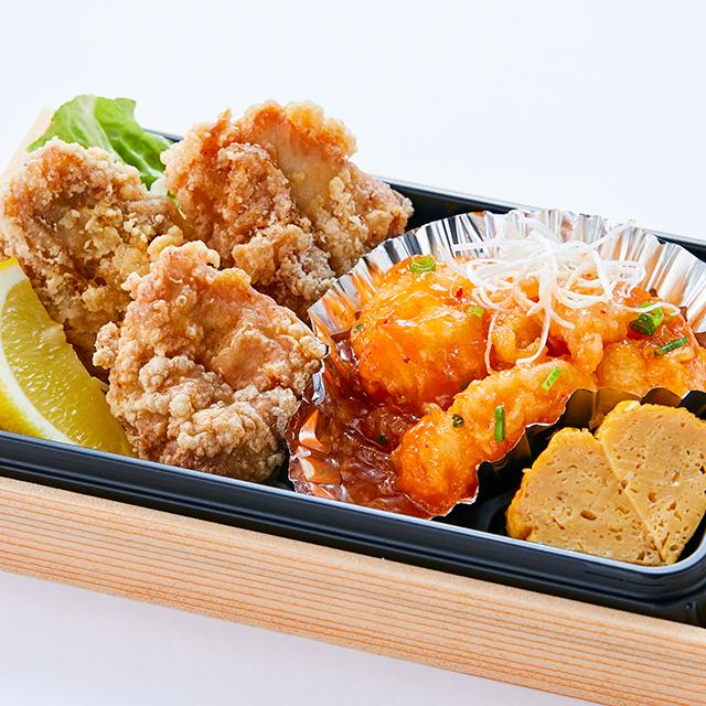 唐揚げ&エビチリ弁当 油淋鶏ソース付