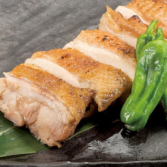 「鶏王」もも肉炙り~柚子胡椒添え~