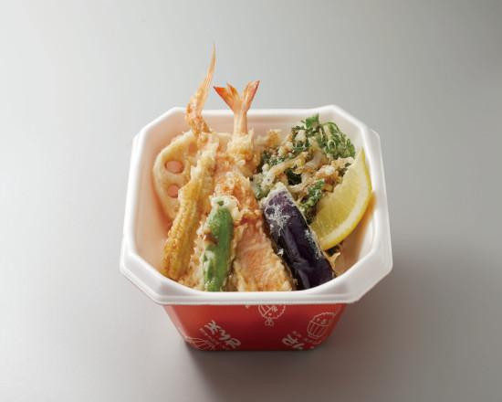 金目鯛と旬菜の天丼