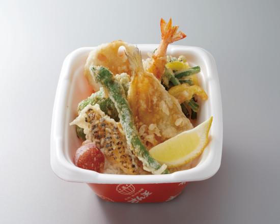 鱚と彩り野菜の天丼