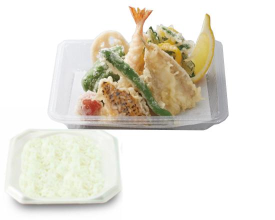 鱚と彩り野菜の天ぷら弁当