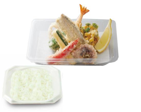 太刀魚と夏野菜の天ぷら弁当