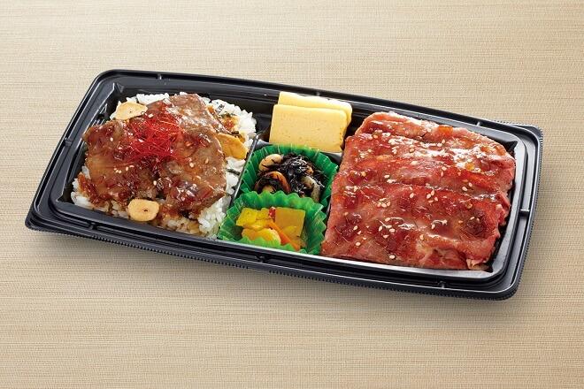 【~8/31 期間限定 肉祭り】 よくばりダブル丼(ガーリックステーキ丼&ローストビーフ丼)