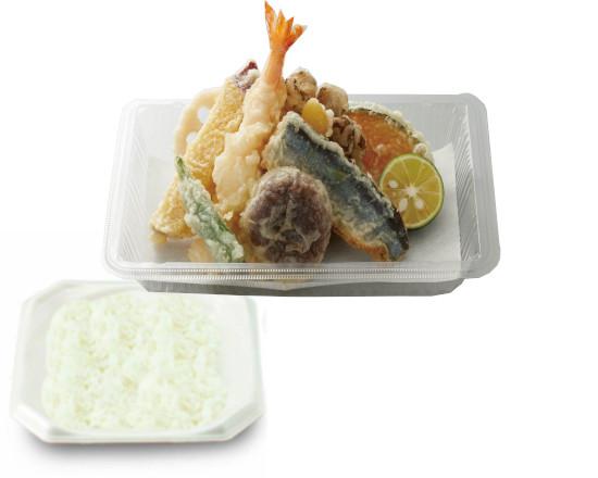 【キャンペーン対象商品】秋刀魚と舞茸のかき揚げ天ぷら弁当