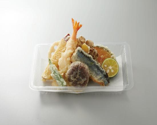 秋刀魚と舞茸のかき揚げ天ぷら盛合せ