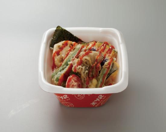 野菜天丼+旨辛ソース
