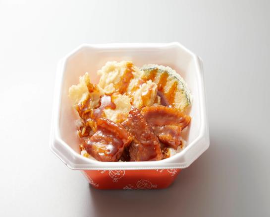 【キャンペーン対象!】豚角煮とり天丼