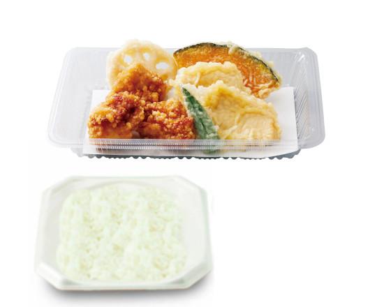 鶏唐×鶏天弁当