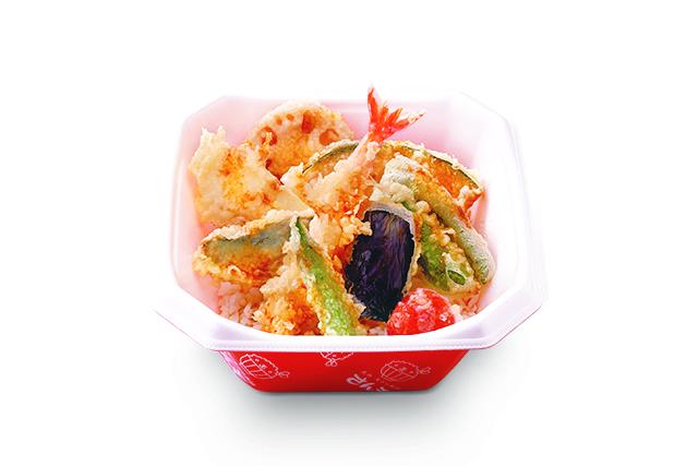 海鮮野菜天丼